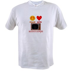 Peace Love Horror Movies Value T-shirt