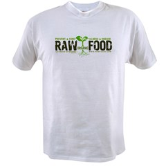 RawFood_DARK_Background Value T-shirt