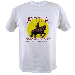 Attila 'Huns in the Sun' tour Ash Grey Value T-shirt