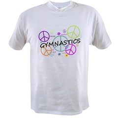 Colored Peace Signs Gymnastics Value T-shirt