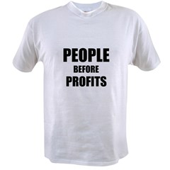 People Before Profits Value T-shirt