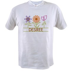 Desiree with cute flowers Value T-shirt