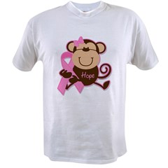 Monkey Cancer Hope Value T-shirt