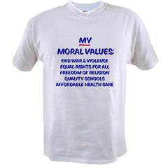 My Moral Values Ash Grey Value T-shirt