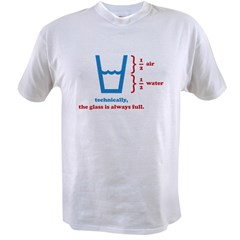 Half Full Glass Value T-shirt