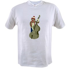 Sock Monkey Bass Player Value T-shirt