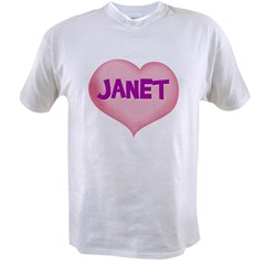 janet heart Value T-shirt