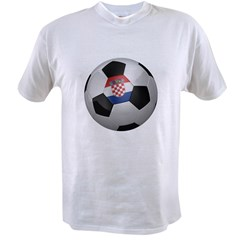 Croatian soccer ball Value T-shirt