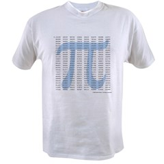 Pi to 1001 Digits Value T-shirt
