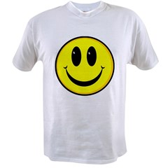 SMILEY FACE Ash Grey Value T-shirt