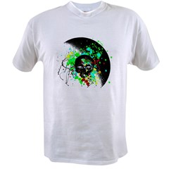 Alien Skull Graffiti Graphic Value T-shirt