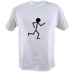 Running Stickman.pn Value T-shirt