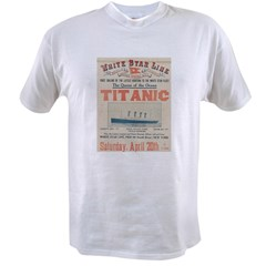 Titanic Advertising Card Value T-shirt