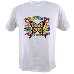 Autism Awareness Butterfly Value T-shirt
