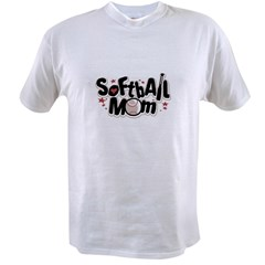 SOFTBALL MOM Ash Grey Value T-shirt