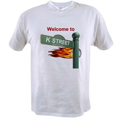 Welcome to K Street Ash Grey Mens Value T-shirt