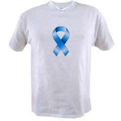 Blue Awareness Ribbon Value T-shirt