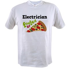 Electrician Funny Pizza Value T-shirt