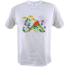 Humming Flowers by Nancy Vala Value T-shirt
