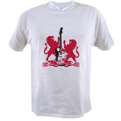 Rock Lion Guitar Cres Value T-shirt