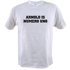ARNOLD is NUMERO UNO Ash Grey Value T-shirt