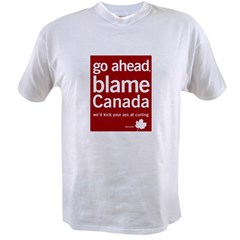 Blame Canada Ash Grey Value T-shirt