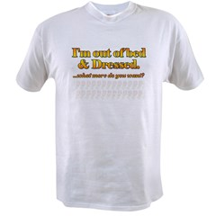 I'm out of bed Ash Grey Value T-shirt