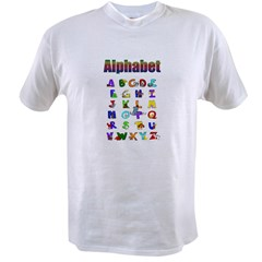 Colorful Alphabet Value T-shirt