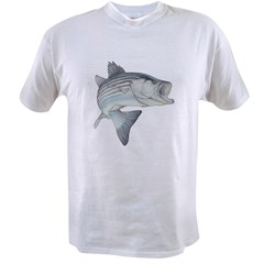 Lunker's Stripe Bass Ash Grey Value T-shirt