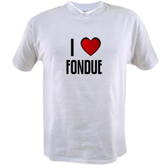 I LOVE FONDUE Value T-shirt
