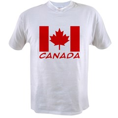 Canadian Flag Ash Grey Value T-shirt