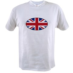 UK (Union Jack) Flag in Oval Value T-shirt