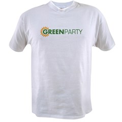 Green Party Logo (sunflower) Ash Grey Value T-shirt