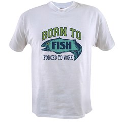 Fishing Ash Grey Value T-shirt