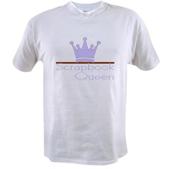 Purple/Brown Scrapbook Queen Value T-shirt