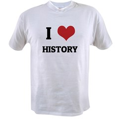I Love History Value T-shirt