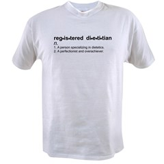 Registered Dietitian Ash Grey Value T-shirt