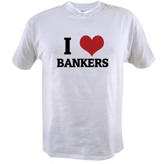 I Love Bankers Ash Grey Value T-shirt