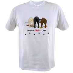 Labrador Butts with Sticks/Balls Ash Grey Value T-shirt