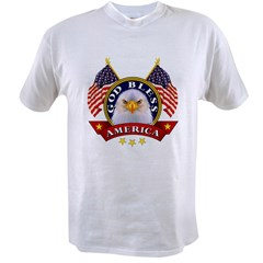 God Bless America Ash Grey Value T-shirt