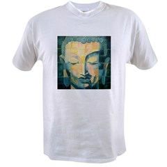 Tiled Buddha Ash Grey Value T-shirt