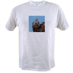 Tibetan Terrier xmas santa ha Ash Grey Value T-shirt