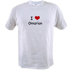 I LOVE OMARION Ash Grey Value T-shirt