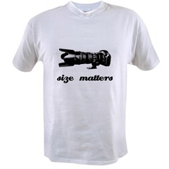 Size Matters Ash Grey Value T-shirt