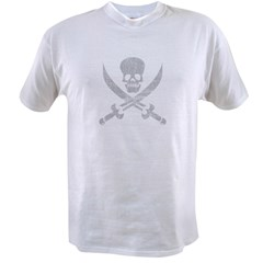 Vintage Pirate Symbol Black Value T-shirt