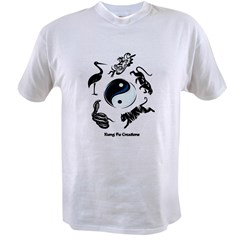 5 animal Kung Fu logo Ash Grey Value T-shirt