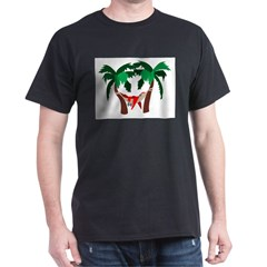 Macaw in Palms Dark T-Shirt