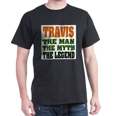 TRAVIS - The Legend Ash Grey Dark T-Shirt
