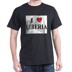 I Love Liberia Dark T-Shirt