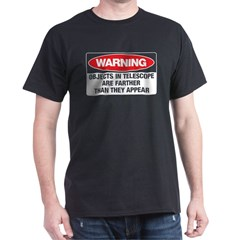 Astro-Warning Black Dark T-Shirt